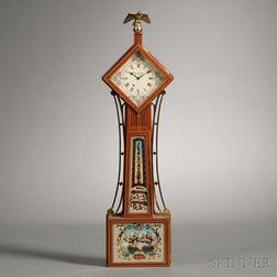 Miniature Diamond-Head Wall Clock by Wayne R. Cline