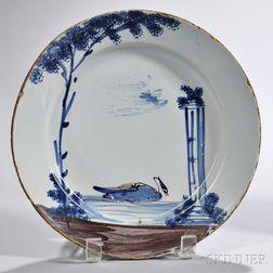 Tin-glazed Earthenware Swan Plate