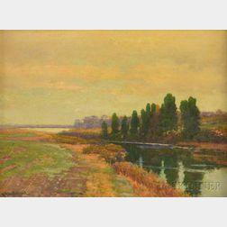 Robert Ward Van Boskerck (American, 1855-1932)      Near the Salt Pond, Wakefield, Rhode Island