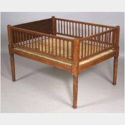 Red Stained Maple Crib