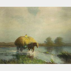 William Jurian Kaula (American, 1871-1953)    The Haywagon