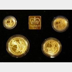 1993 United Kingdom Gold Proof Britannia Four Coin Collection