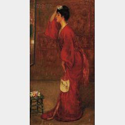 Louis Kronberg (American, 1872-1965)      The Red Kimono