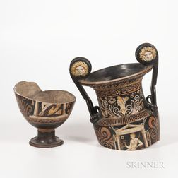 Ancient Apulian Red-figured Volute-krater