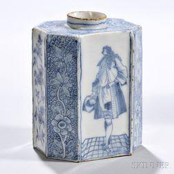 Tin-glazed Earthenware Tea Canister