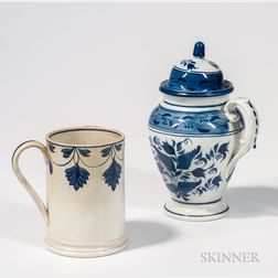 Pearlware Coffeepot and Quart Mug
