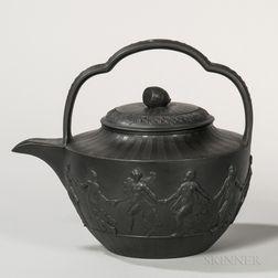 Wedgwood Black Basalt Teakettle and Cover