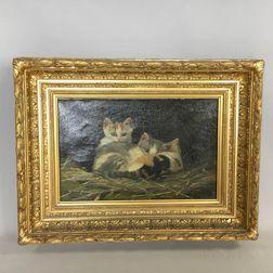 American School, 19th Century       Portrait of Three Cats