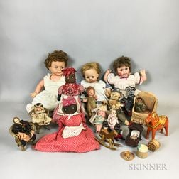 Group of Dolls and Accessories