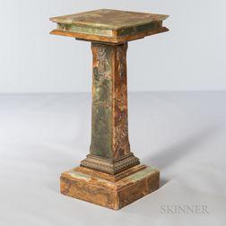 Bronze-mounted Onyx Pedestal