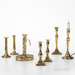 Seven Brass Candlesticks