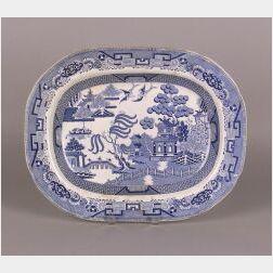 English Blue Willow Platter.