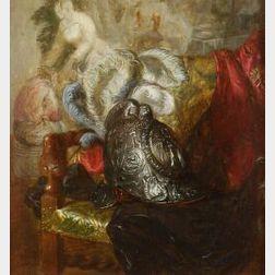 Blaise Alexandre Desgoffe (French, 1830-1901)  Casque Italien 16e Siecle...