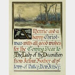 Arthur Hoeber (American, 1854-1915)  A Merrie and a Happy Christmas...