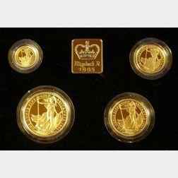 1995 United Kingdom Gold Proof Britannia Four Coin Collection