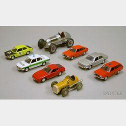 Eight Schuco Vehicles