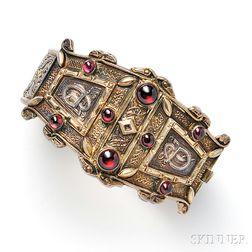 Antique Gilt-silver and Garnet Bracelet