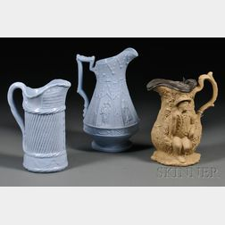 Three Staffordshire Jugs