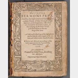 Latimer, Hugh (1487-1555) Frutefull Sermons