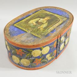 Scandinavian Paint-decorated Bride's Box, Bowl, and Paddle