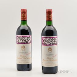 Chateau Mouton Rothschild 1988, 2 bottles