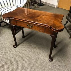 Queen Anne-style Mahogany One-drawer Card Table