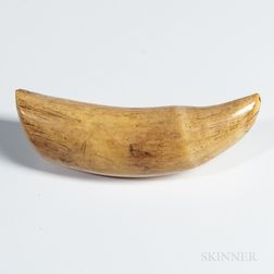 Fijian Whale Tooth Pendant, Tabua