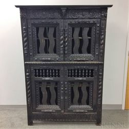 Baroque-style Carved Oak Cabinet