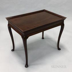 George III-style Mahogany Tea Table