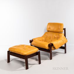 Percival Lafer (Brazilian, b. 1936) Lounge Chair and Ottoman