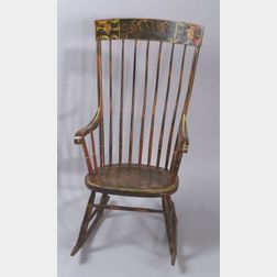 Paint Decorated Windsor Armed Rocker