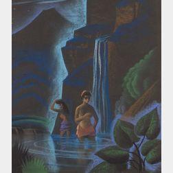 Dale Nichols (American, 1904-1989)    Female Bathers