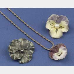 Three Flower Jewelry Items