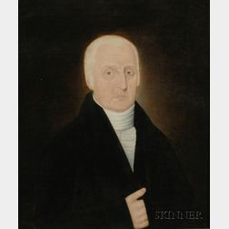 Attributed to John Brewster, Jr.  (American 1766-1854)      Portrait of Dr. Joseph Osgood of Andover and Salem, Massachusetts.