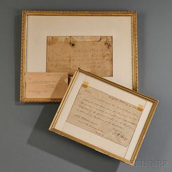 Two Framed Oliver Hazard Perry Documents