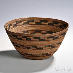 Yokuts Polychrome Basketry Bowl