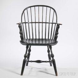 Black-painted Sack-back Windsor Chair