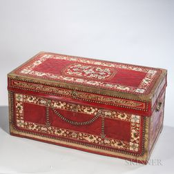Indo-Colonial-style Leather Trunk
