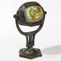 Tiffany Studios Bronze Turtleback Zodiac Desk Lamp