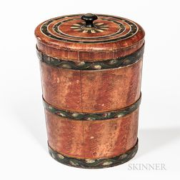Paint-decorated Lidded Pail
