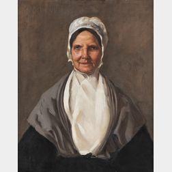 William Merritt Chase (American, 1849-1916)      Portrait of Phoebe Hussey, née Folger