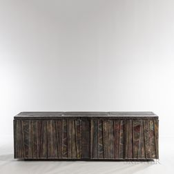 Paul Evans (1931-1987) for Paul Evans Studio Deep Relief Cabinet