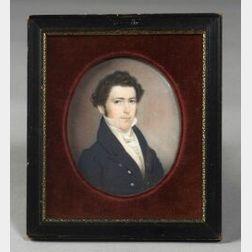 Attributed to Charles Fraser (Charleston, South Carolina, 1782-1860)  Portrait of George Norton Miller, (1805-1891).