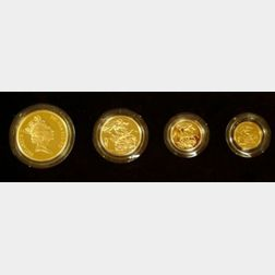 1985 United Kingdom Gold Proof Four Coin Collection