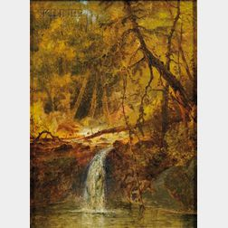 American School, 19th Century      Woodland Waterfall