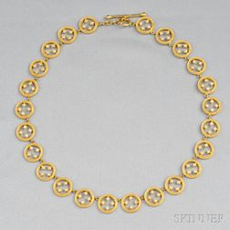 "18kt Gold and Diamond ""Filigree Circle"" Necklace, Cathy Waterman"