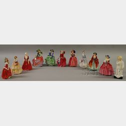 Eleven Royal Doulton Porcelain Figures