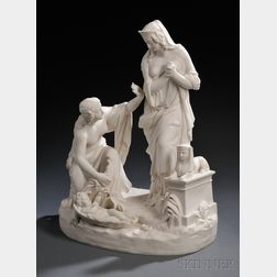 William Beattie Carrara Finding of Moses   Figural Group