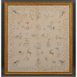 Framed Embroidered Christening Blanket