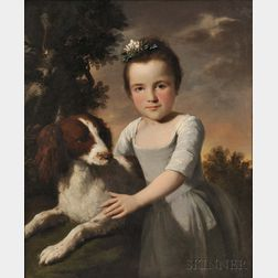 British School, 18th/19th Century      Young Girl with a Spaniel